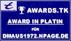 Platin-Award von Topster.de