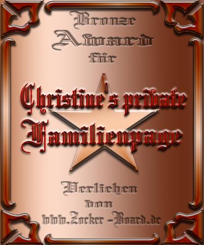 Bronze Award Christine's private Familienpage