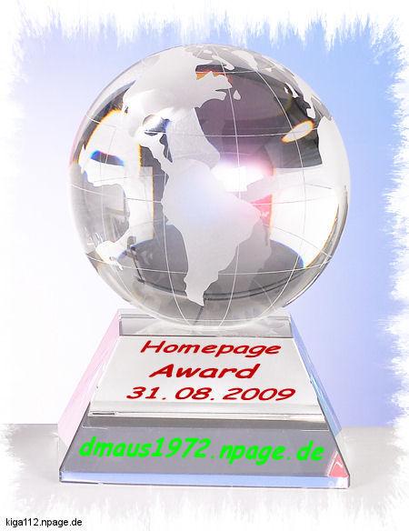Homepage Award