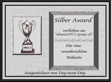 Silber-Award von Dog-meet-Dog