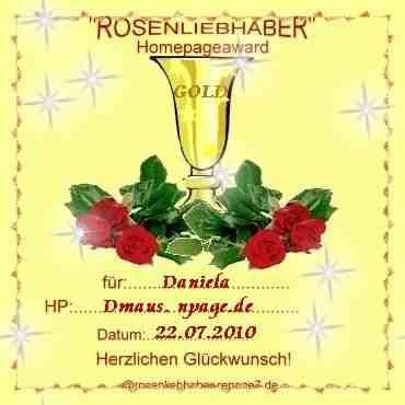 Rosenliebhaber HomepageAward