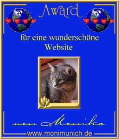 Award für eine wunderschöne Website
