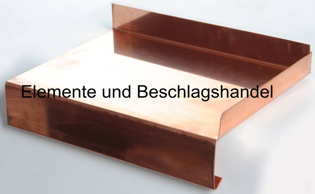 Fensterbank Kupfer 40mm Tropfkante