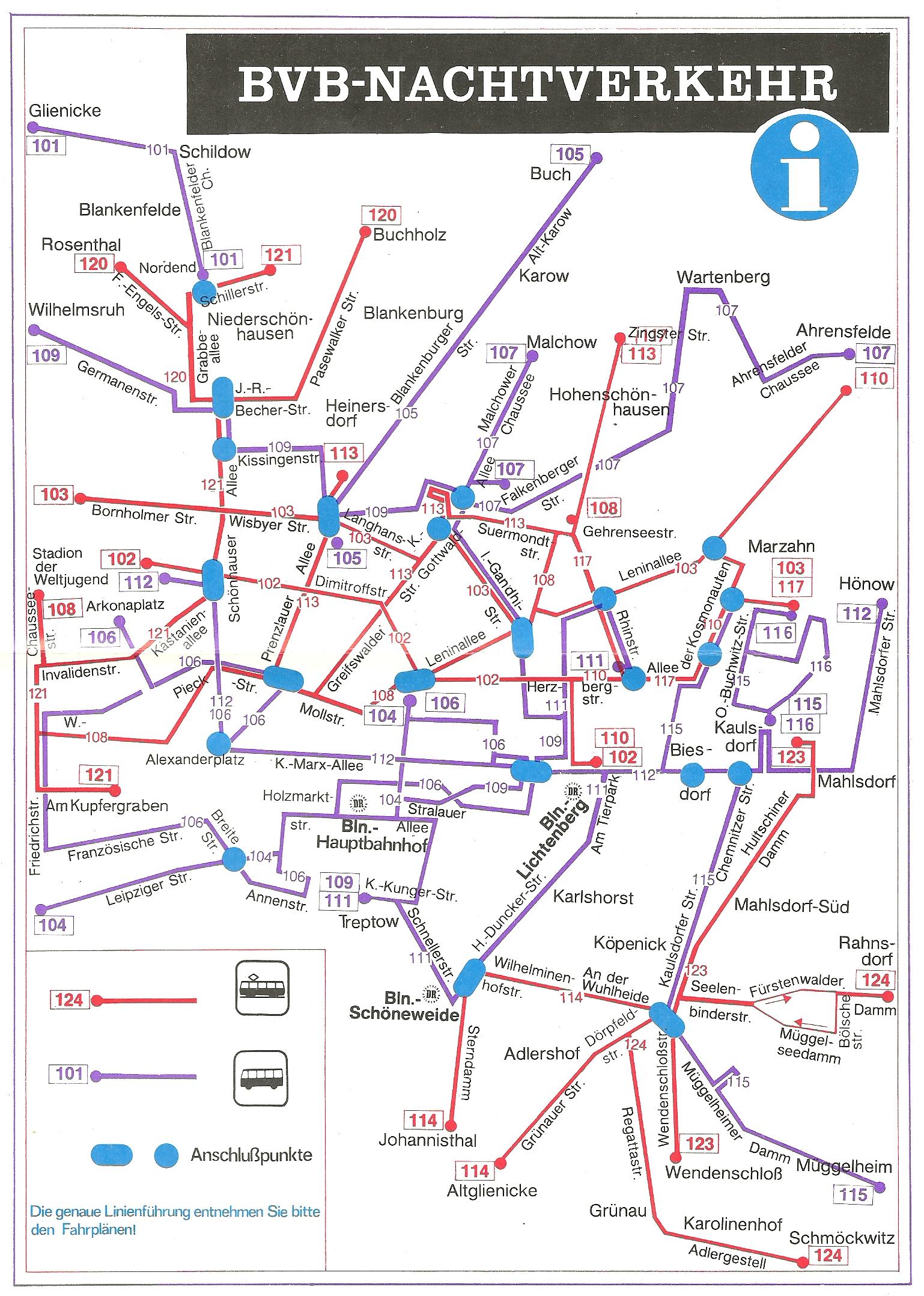 Liniennetz bvg