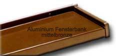 Alu Fensterbank in mittelbronze C33