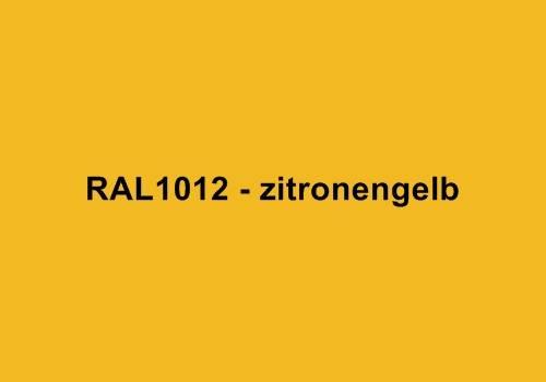 Alu Fensterbank in Ral 1012 zitronengelb