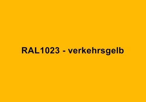 Alu Fensterbank in Ral 1023 verkehrsgelb