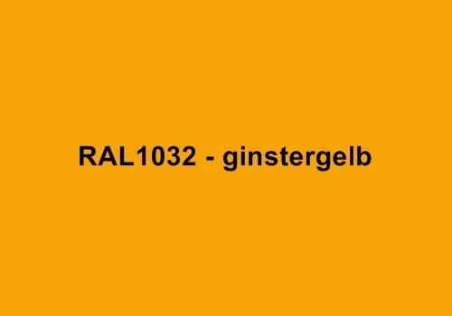 Alu Fensterbank in Ral 1032 ginstergelb