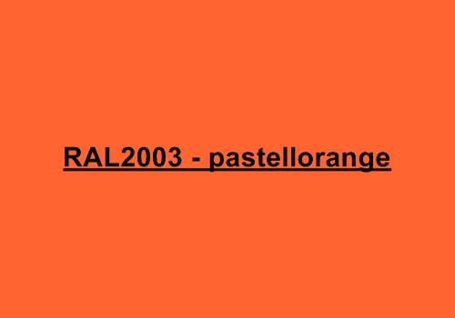 Alu Fensterbank in Ral 2003 pastellorange