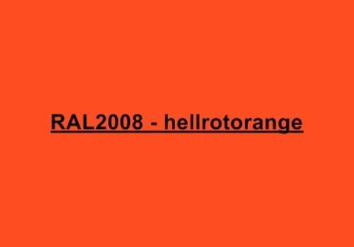 Alu Fensterbank in Ral 2008 hellrotorange