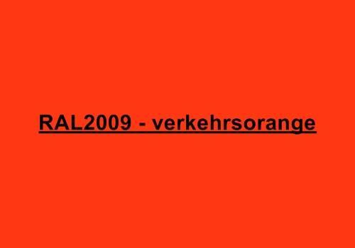 Alu Fensterbank in Ral 2009 verkehrsorange