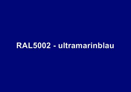 Alu Fensterbank in Ral 5002 ultramarinblau