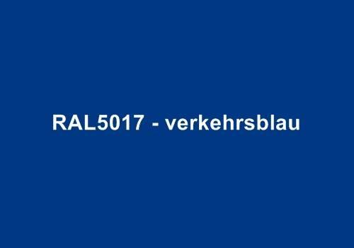 Alu Fensterbank in Ral 5017 verkehrsblau
