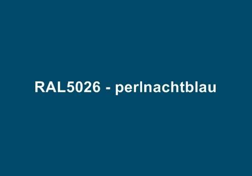 Alu Fensterbank in Ral 5026 perlnachtblau