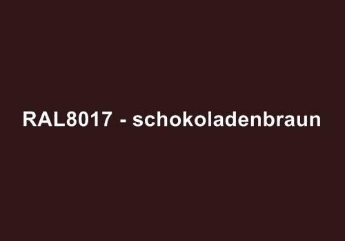 Alu Fensterbank in Ral 8017 schokoladenbraun