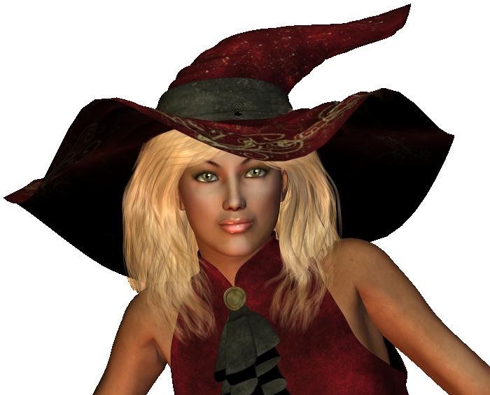 Hexe auf Besen Gesicht