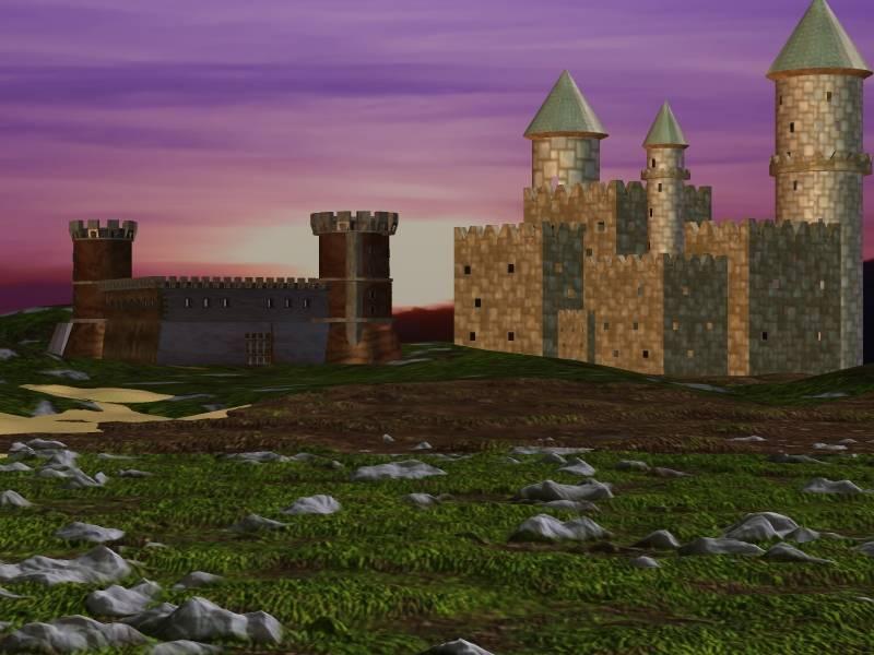 Mittelalter Burgen anderer Himmel