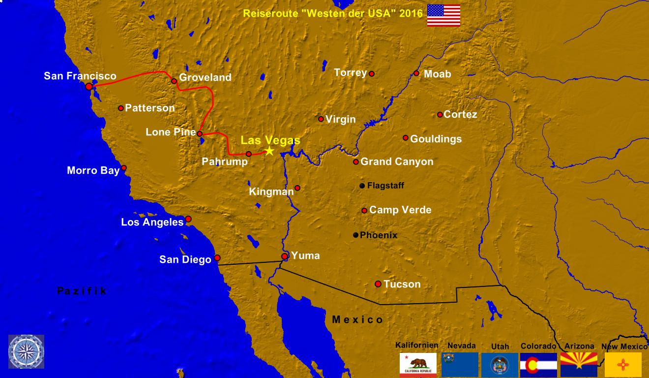 Las Vegas Usa Karte