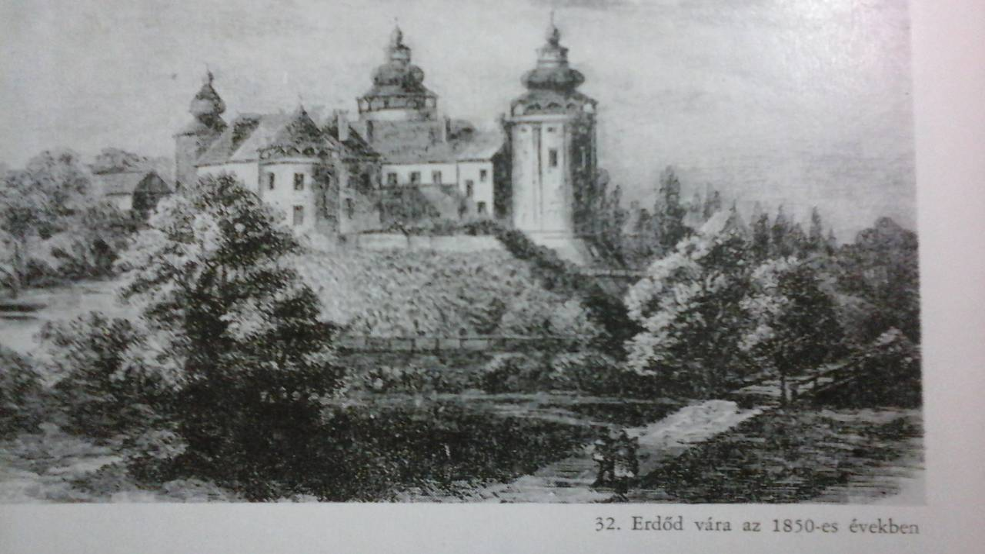 Az erdődi vár 1850-ben