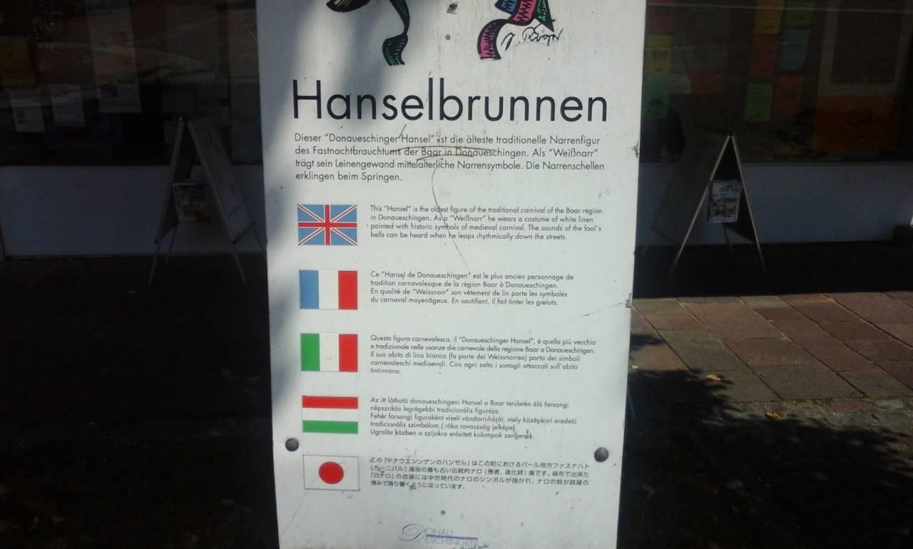 Hanselbrun im Donaueshau .