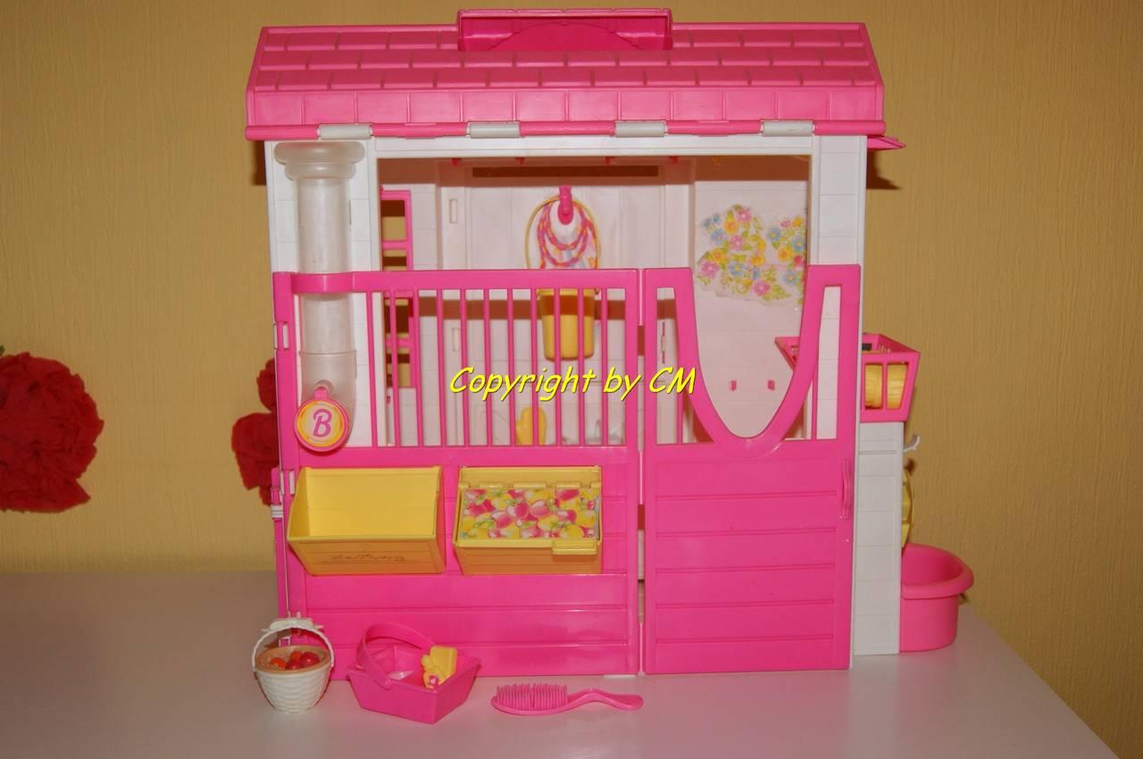 barbie pferd mit stall