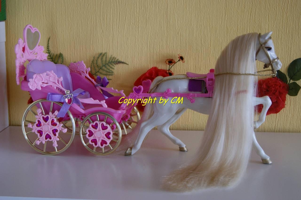 barbie kutsche pferd