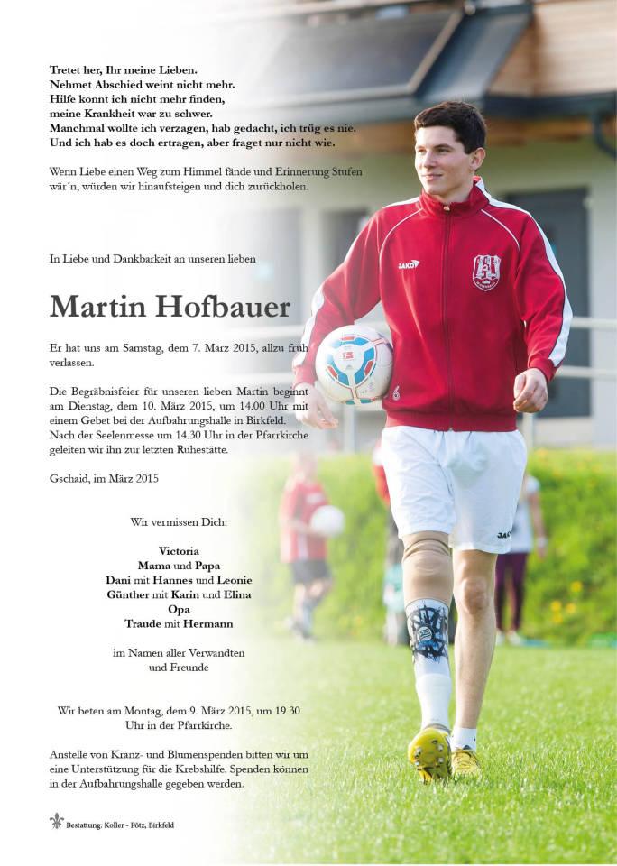 Partezettel Martin Hofbauer