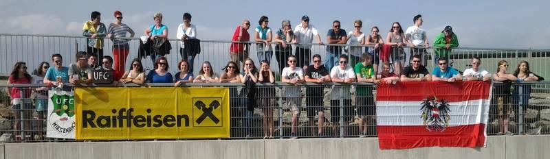 Unsere Fans beim letzten Spiel in Wenigzell