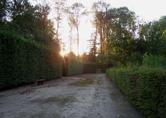 der Jardin im Sonnenuntergang -- © 2009 by Janine Schreiber