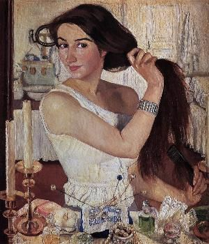 At the Dressing-Table (1909, Selbstbildnis)