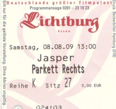 Eintrittskarte Lichtburg