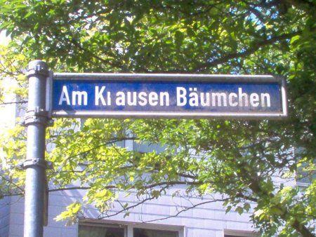 """Straßenschild """"Am Krausen Bäumchen"""""""