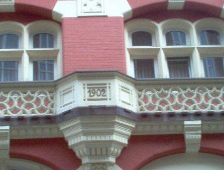Fassade Teichstraße gegenüber dem Haus der Technik