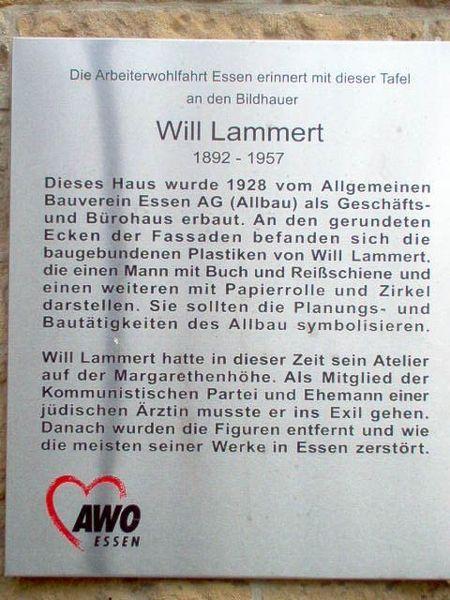 Gedenktafel Will Lammert