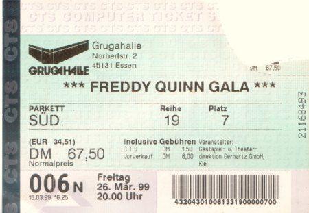 Eintrittskarte Grugahalle