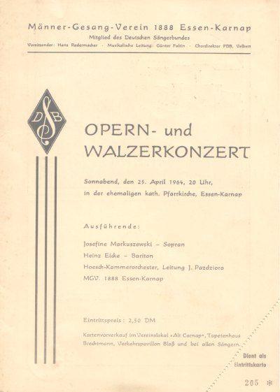 Opern- und Walzerkonzert des MGV 1888 Essen-Karnap