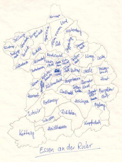 Stadtkarte Essen