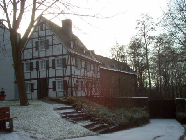 Fachwerkhaus an der Stiftskirche in Essen-Stoppenberg