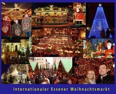 Postkarte Essener Weihnachtsmarkt