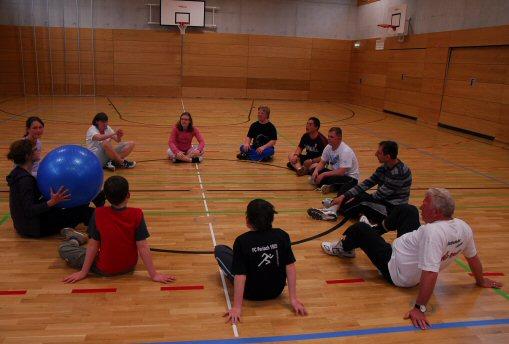 Gruppenstunde Bewegungstherapie