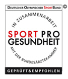 Sport Pro Gesundheit Siegel der Bundesärztekammer