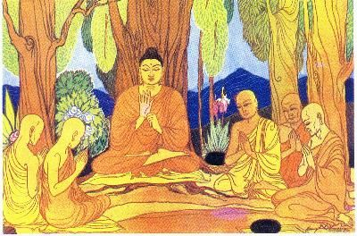 Buddha lehrt, dass alle Dinge ohne beständiges Selbst sind