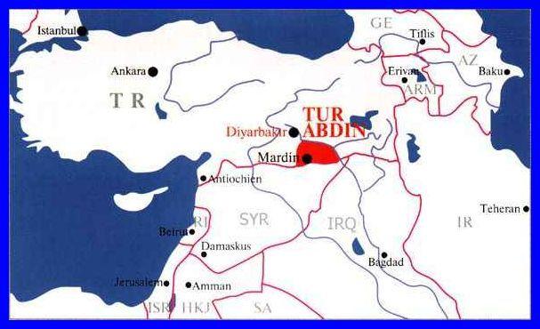 Tur Abdin-Karte