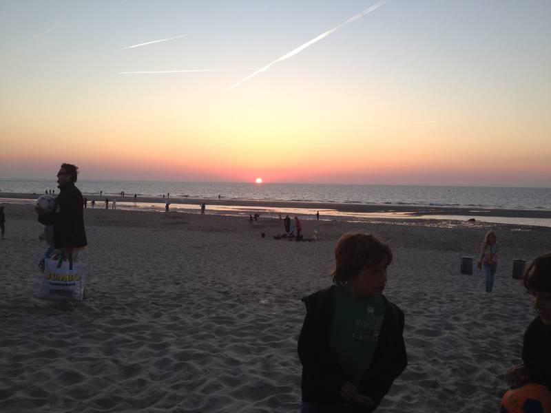 Sonnenuntergang am Strand von Zuid-Zuid-West, Renesse