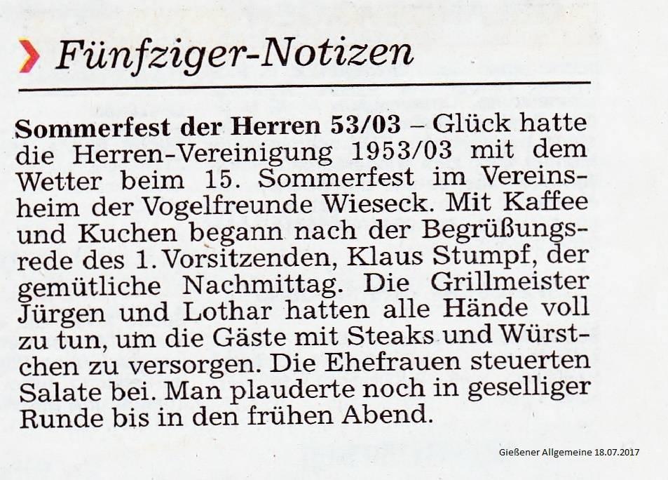 Gießener HFV 1953 - 2003