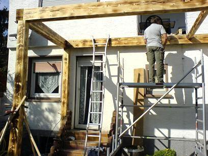 anfang aufbau balkon