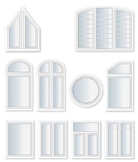 Viele möglichen Fensterformen
