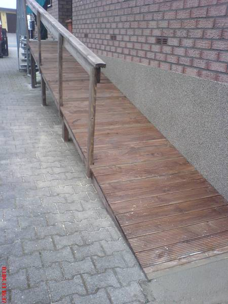 Lauframpe aus Holz leimbinder