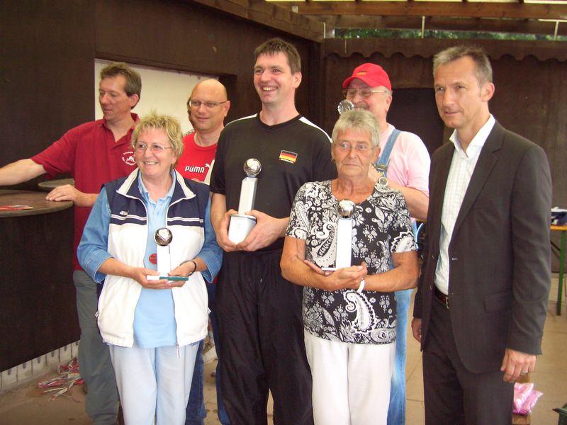 Siegerehrung durch Oberbürgermeister Frank Baranowski