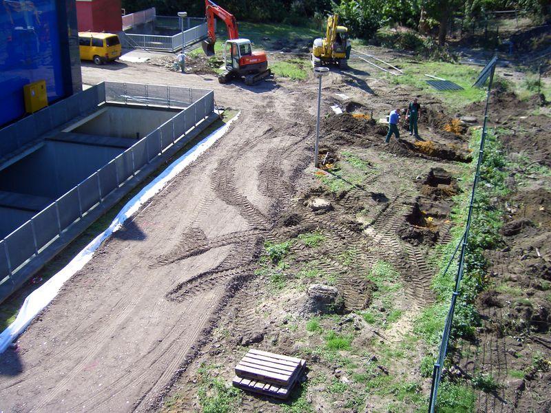 Bauarbeiten am Pumpwerk Nordsternpark